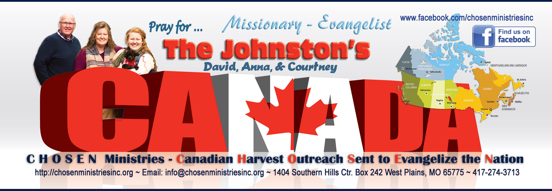 Chosen Ministries David Anna Courtney Johnston