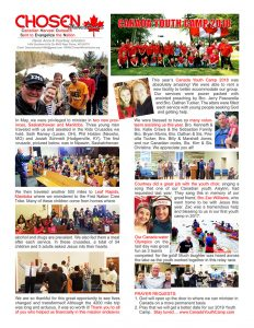 Chosen Ministries Johnston Newsletter